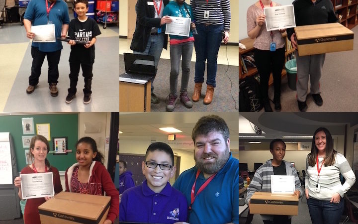 Computer Winners for Aurora Middle Schools