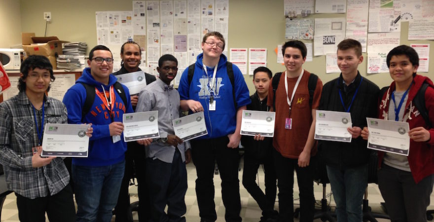 Aurora Hinkley High School Students Work for Tech Certifications