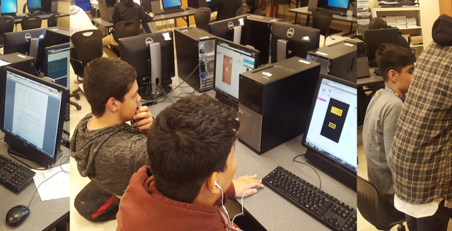 Hinkley Students Build Computer Games