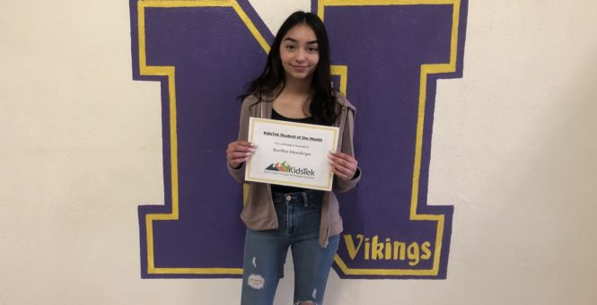 Bertha Mendoza – April 2019 Student of the Month