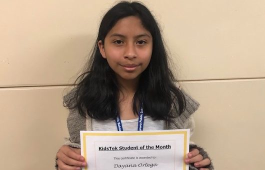 Dayana Ortega – November 2019 Student of the Month