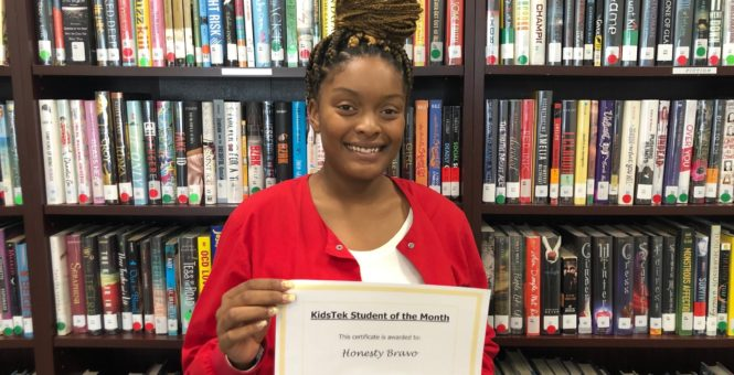 Honesty Bravo – January 2020 Student of the Month