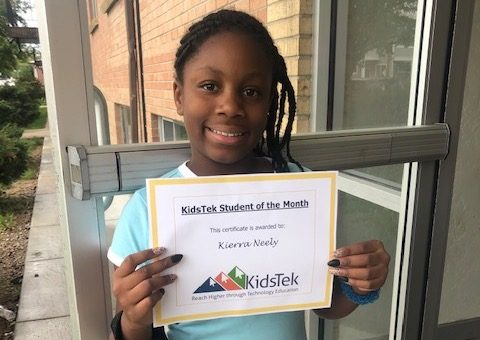 Kierra Neely – June 2020 Student of the Month