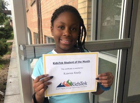 Kierra Neely – June 2020 Student of the Month