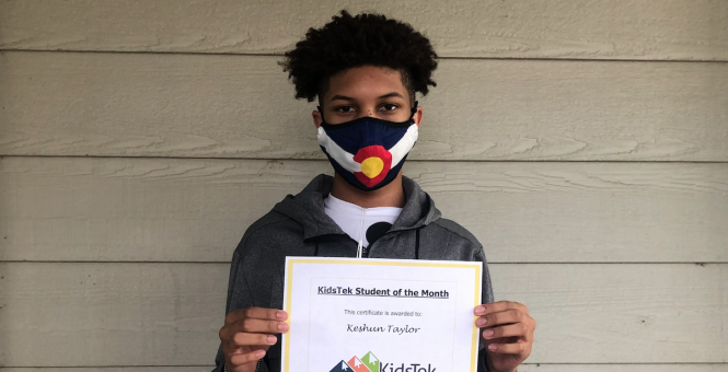 Keshun Taylor – July 2020 Student of the Month