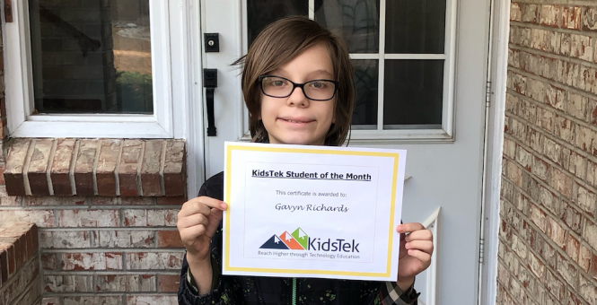Gavyn Richards – October 2020 Student of the Month
