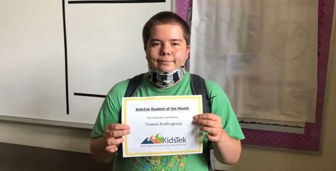 Tomas Rodriguez – June 2021 Student of the Month