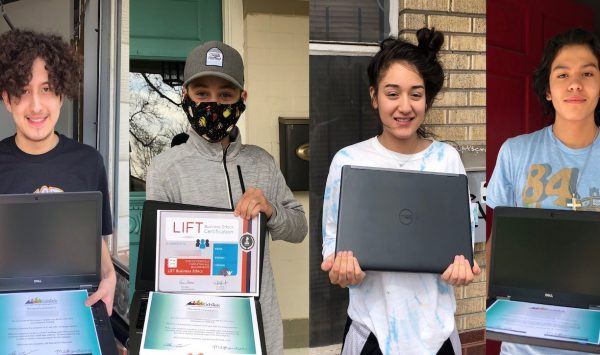 Students Work Hard and Earn Laptops!