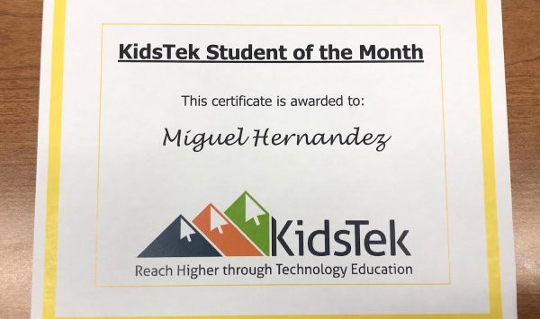 Miguel Hernandez – October 2021 Student of the Month