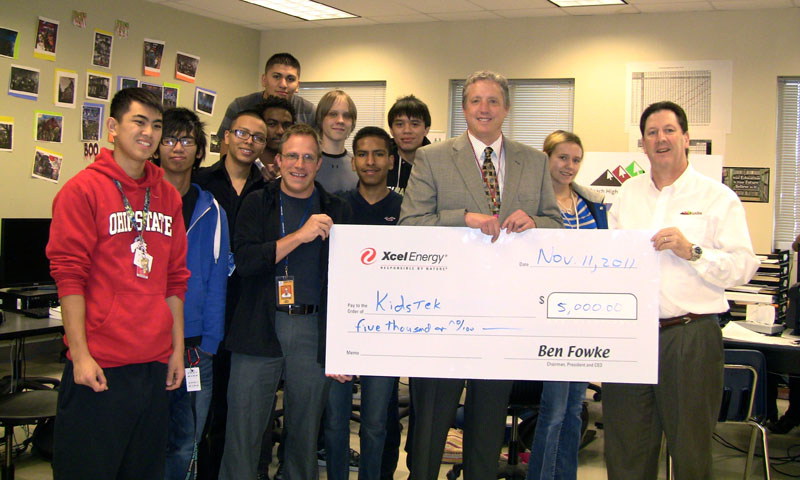 Xcel Energy Foundation Grant Check
